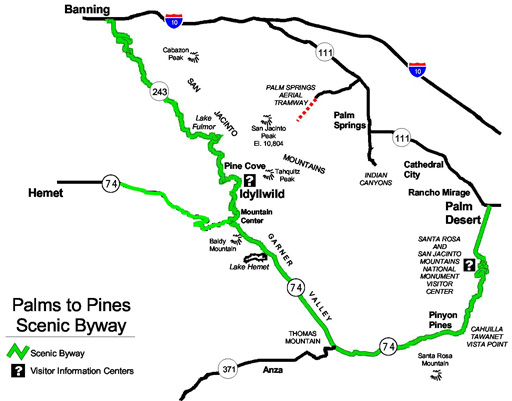 Palmst o Pines Scenic Byway Map