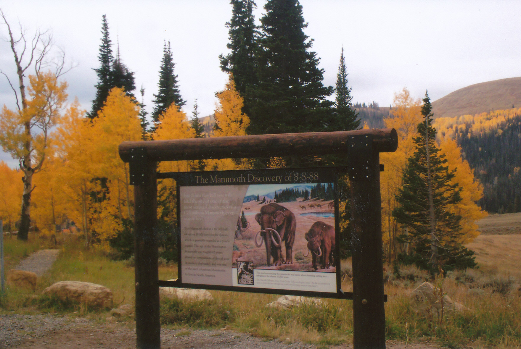 Mammoth Interpretive Panel
