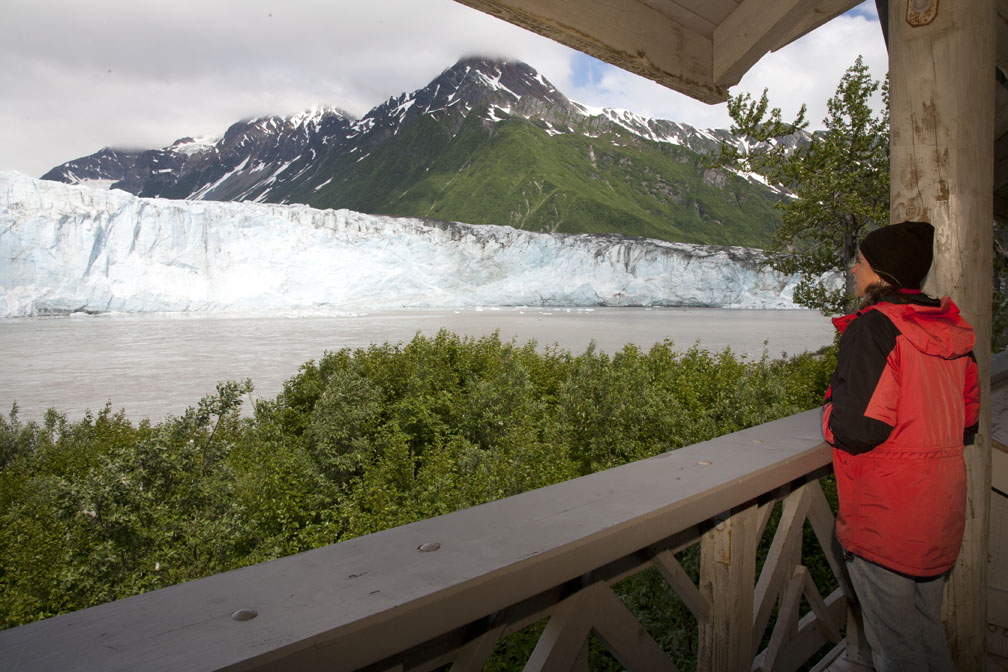A view from the viewing platform at Childs Glacier Campground
