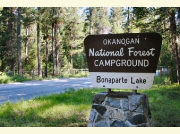 Bonaparte Lake Campground Sign1