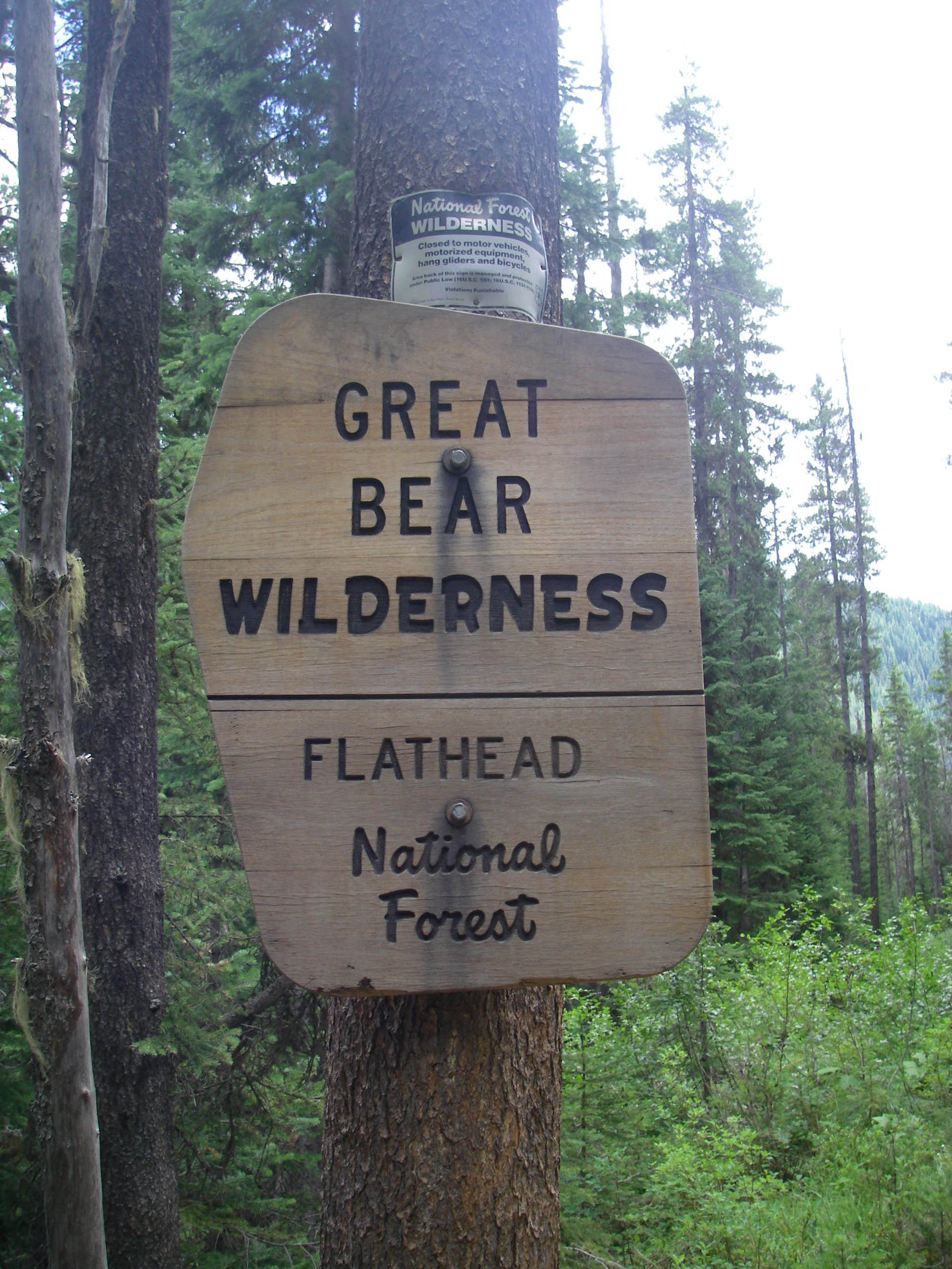 Great Bear Wilderness Sign