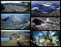 Collage of Newberry Caldera
