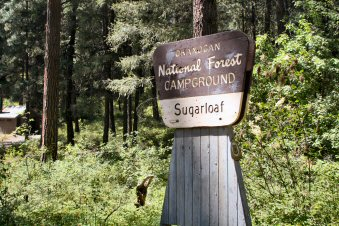 Sugarloaf Campground Entrance Sign