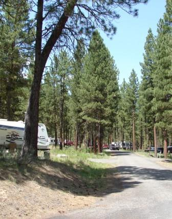 Union Creek Campground trailers