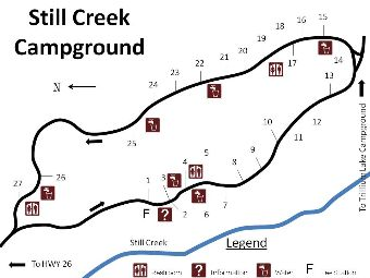 Site map of Still Creek campground