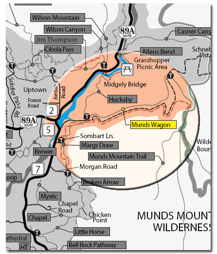 Munds Wagon Trail Map