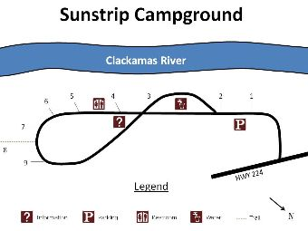 Site map of Sunstrip campground