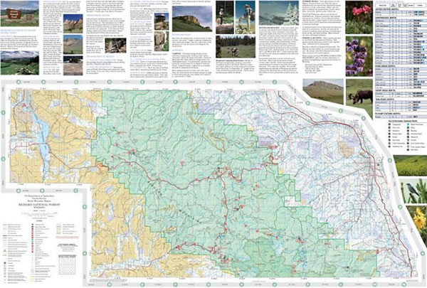 2010 Bighorn National Forest Visitor Information Map - Click to view a zoomable version of this map