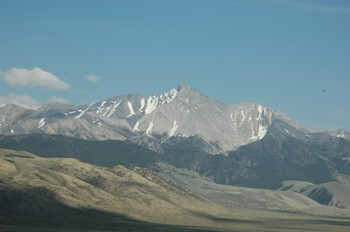 Photo of Borah Peak taken in May 2008.