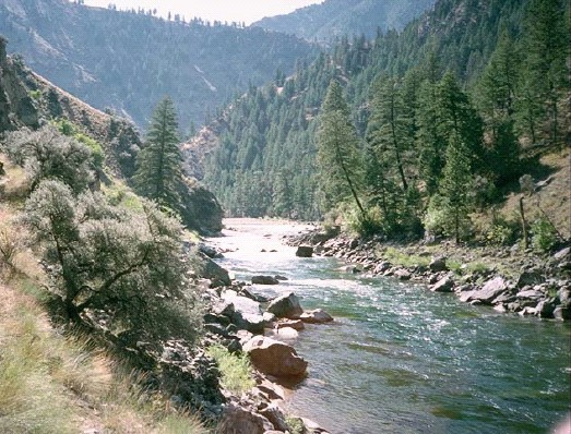 Photo of the Middle Fork River taken off the Frank Church River of No Return Wilderness FEIS