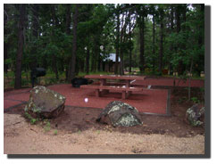 A recently renovated campsite at Blue Ridge Campground