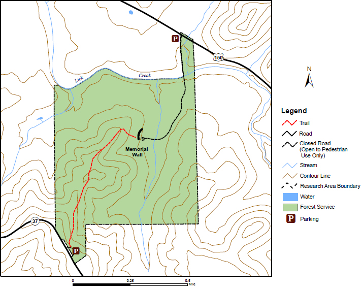 Map of Pioneer Mothers Area with Trail
