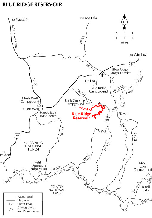 Blue Ridge Reservoir Map