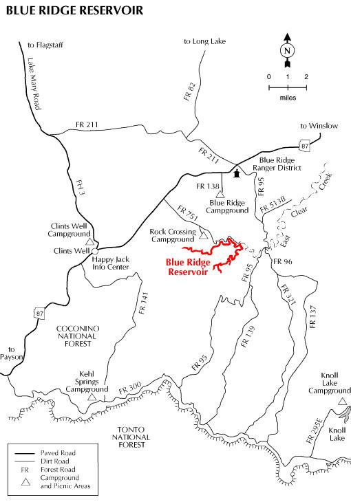 Blue Ridge Reservoir Map