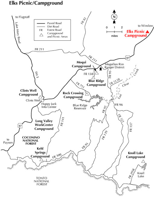 Elks Picnic Ground - Map