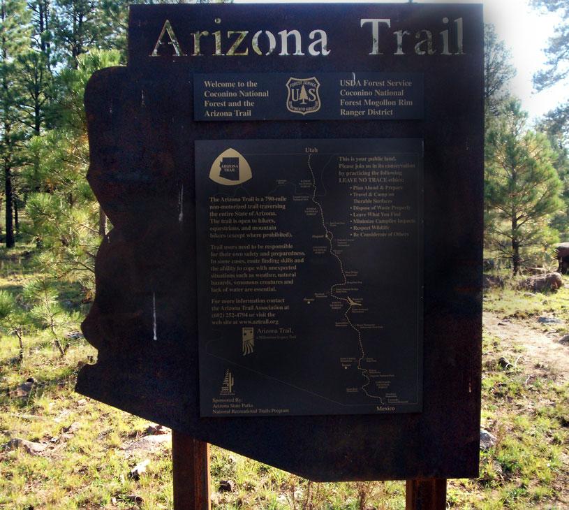 Happy Jack Arizona Map.Coconino National Forest Arizona Trail Passage 28 Happy Jack