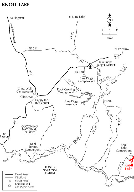 Knoll Lake Map