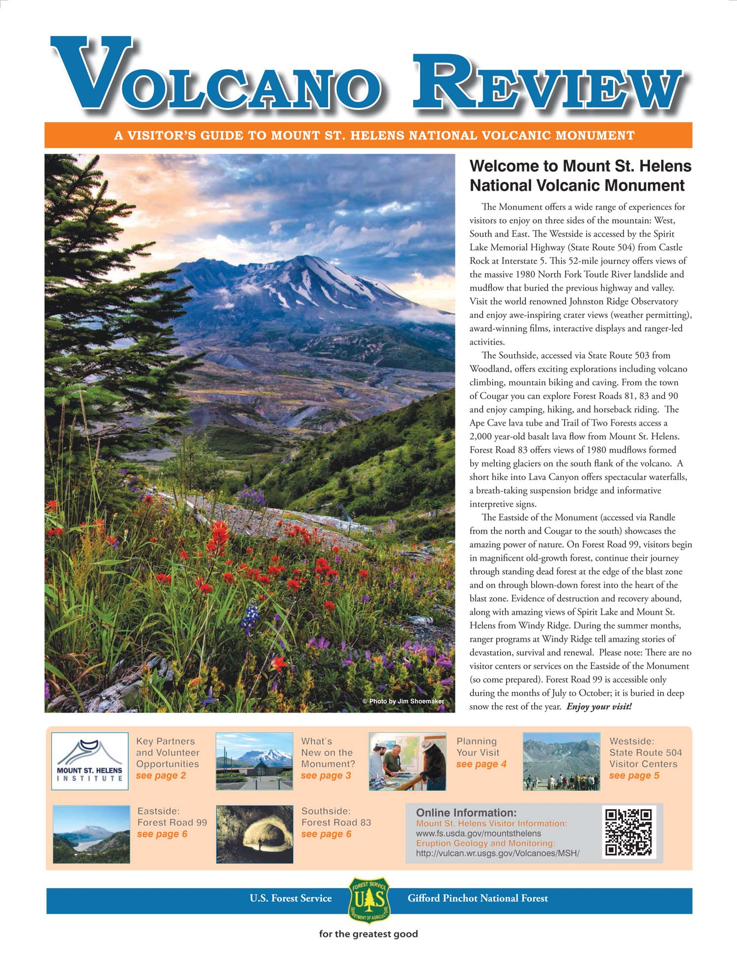 Volcano Review Front Page