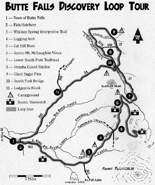 Butte Falls Discovery Loop Tour Vicinity Map