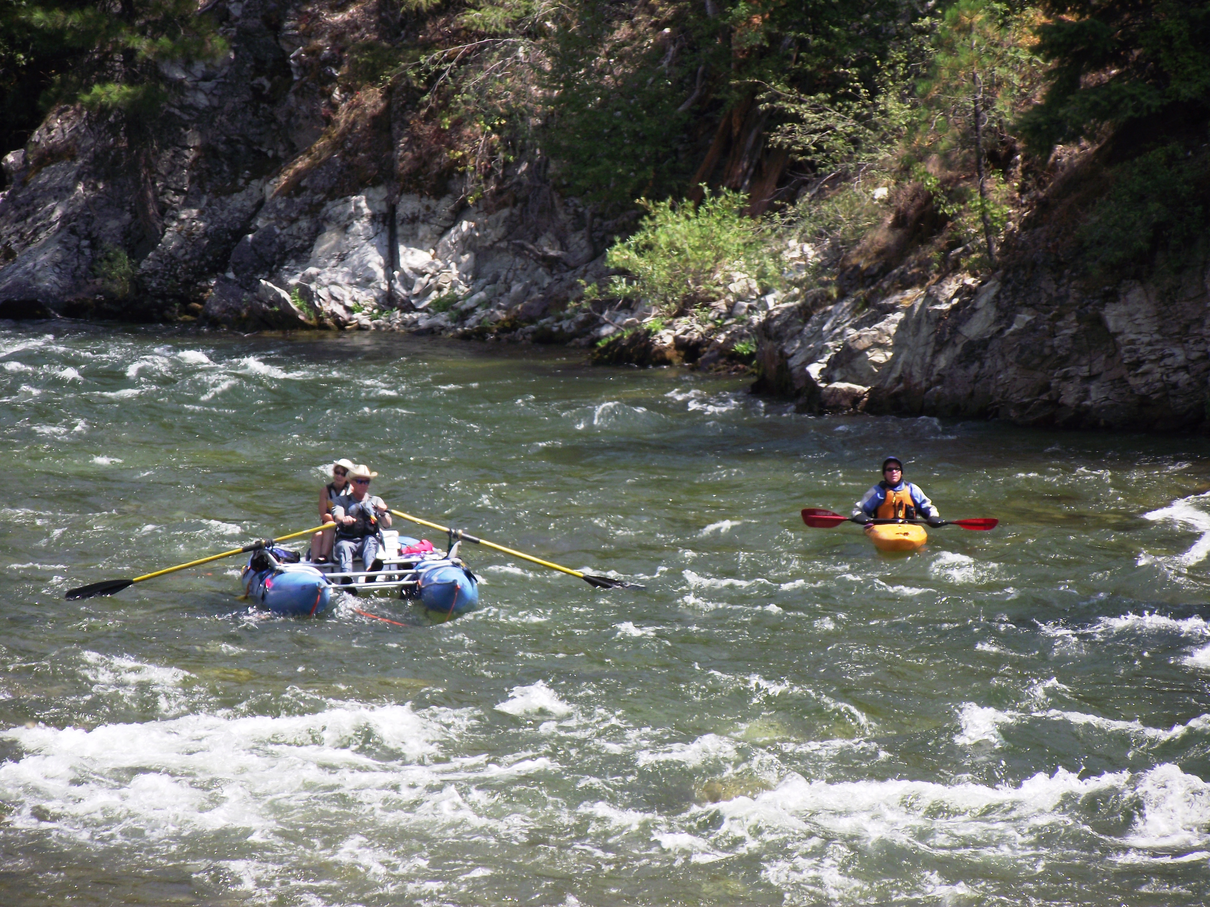 Rafting South Fork  Payette River near Banks