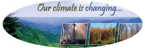 Image with message concerning climate change