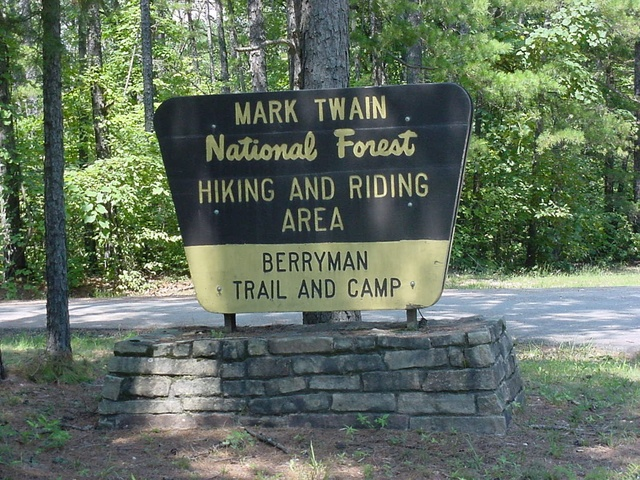 Entrance sign to the Berryman Trail and Camp Site