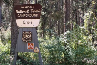 Oriole Campground Sign