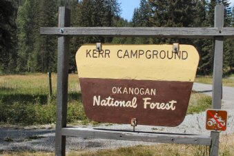 Kerr Campground Sign