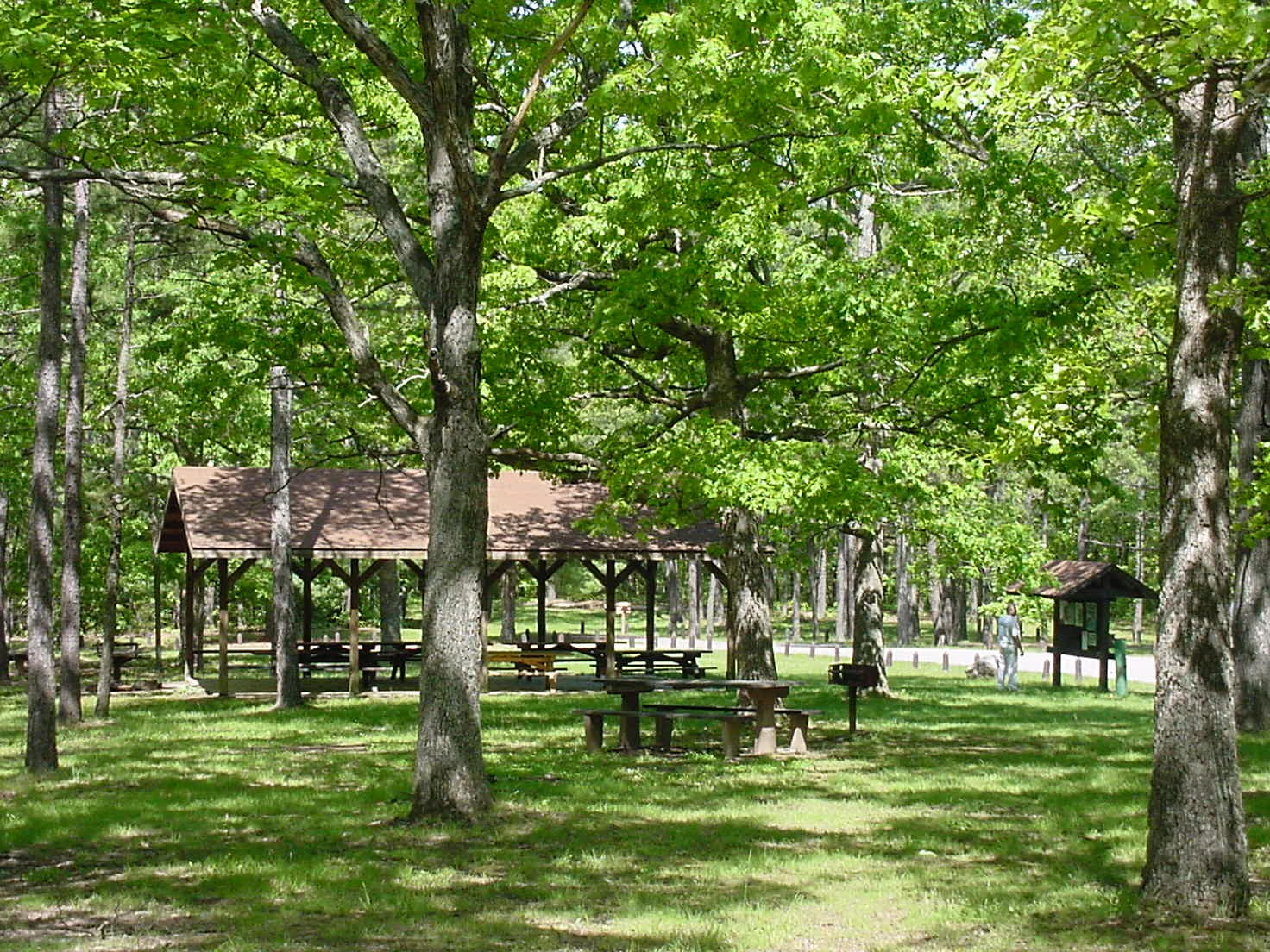 View of the Picnic Pavilion at Berryman Recreation Area