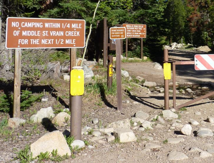 Middle St Vrain Trailhead