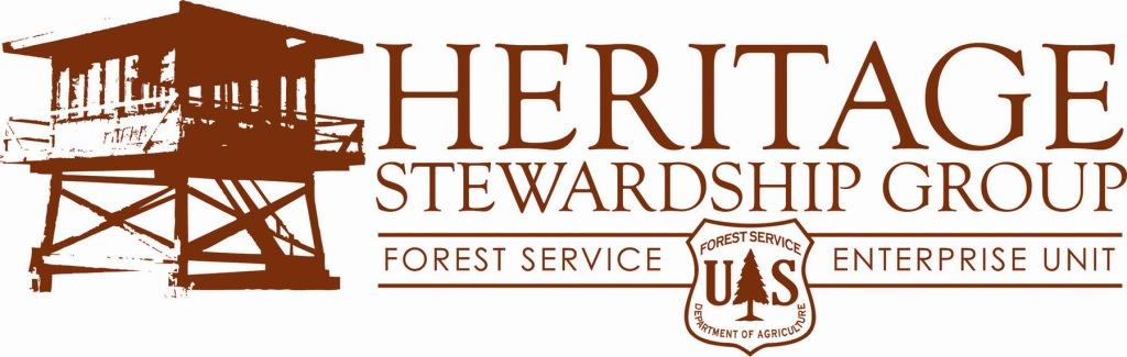 Heritage Stewardship Group Logo with Forest Service Lookout