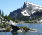 Lake and peak in the Alpine Lakes Wilderness