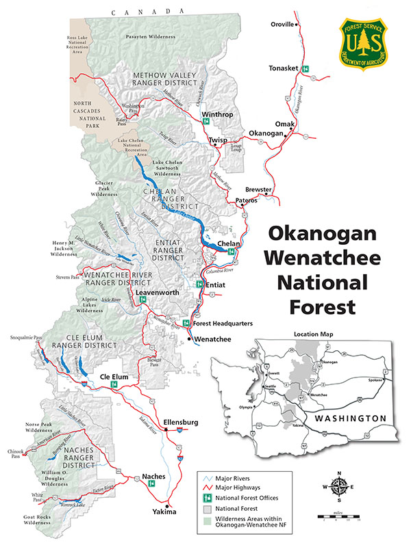 Okanogan-Wenatchee NF overview map