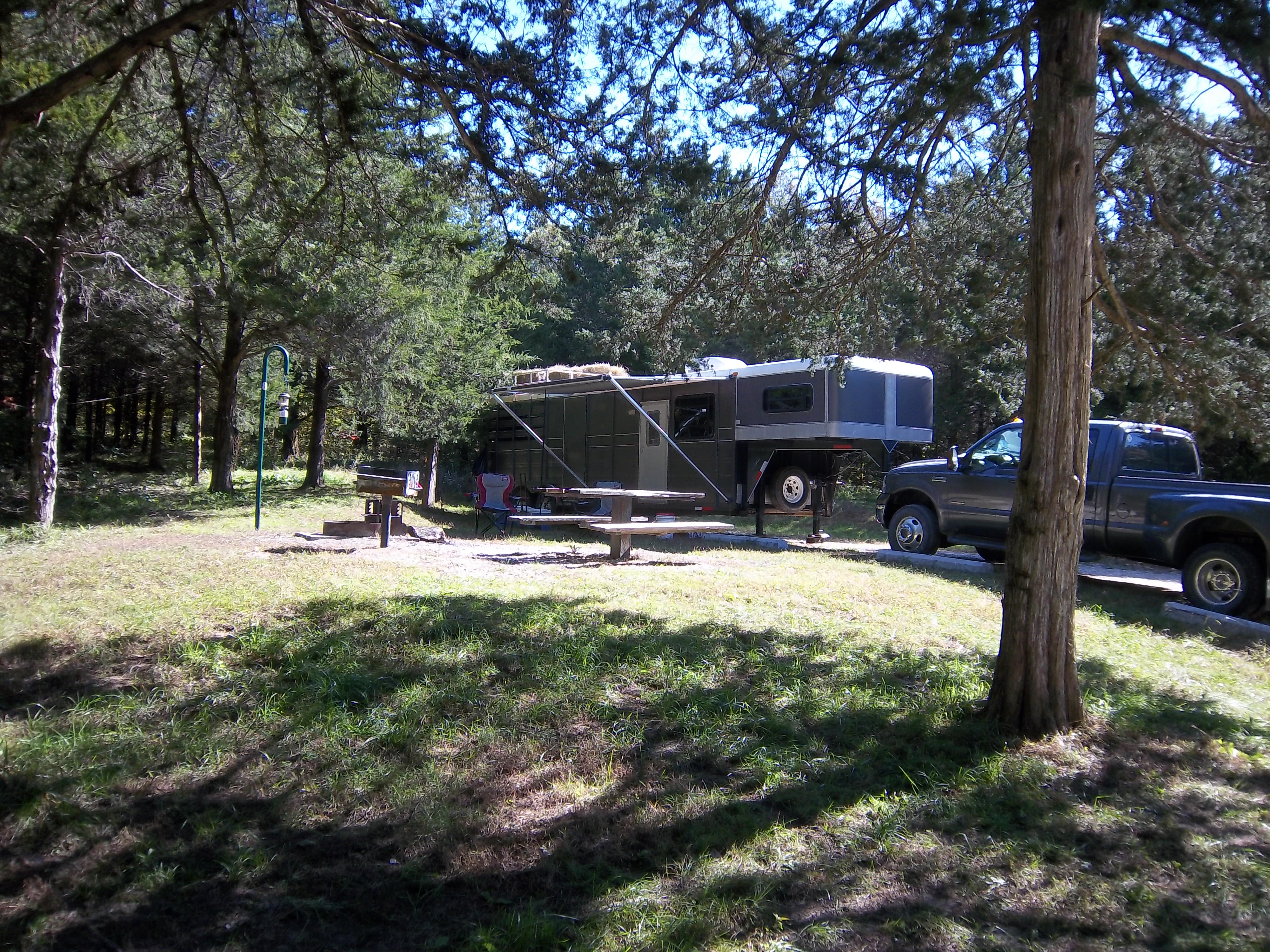 Campground Site with Horse trailer