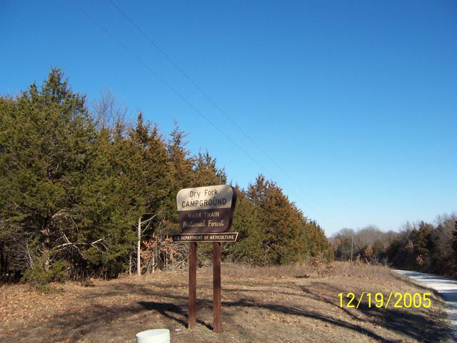 Dry Fork Recreation Area Sign