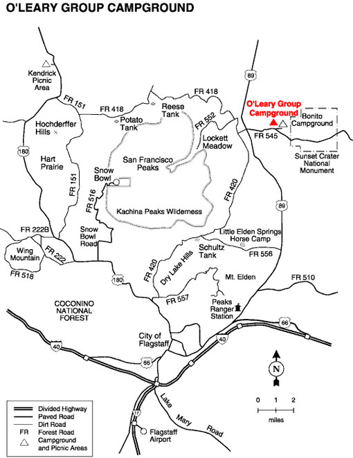 O'Leary Campground Map