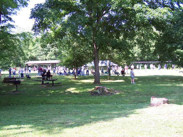 Lane Spring Picnic Area can accommodate large groups