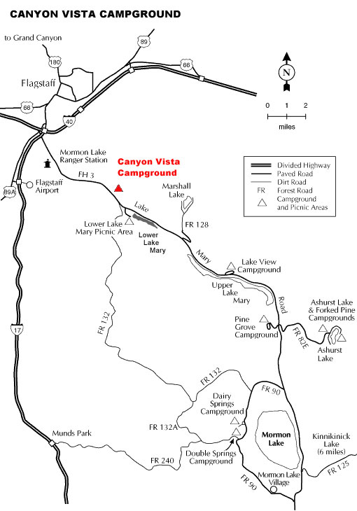 Canyon Vista Campground Map
