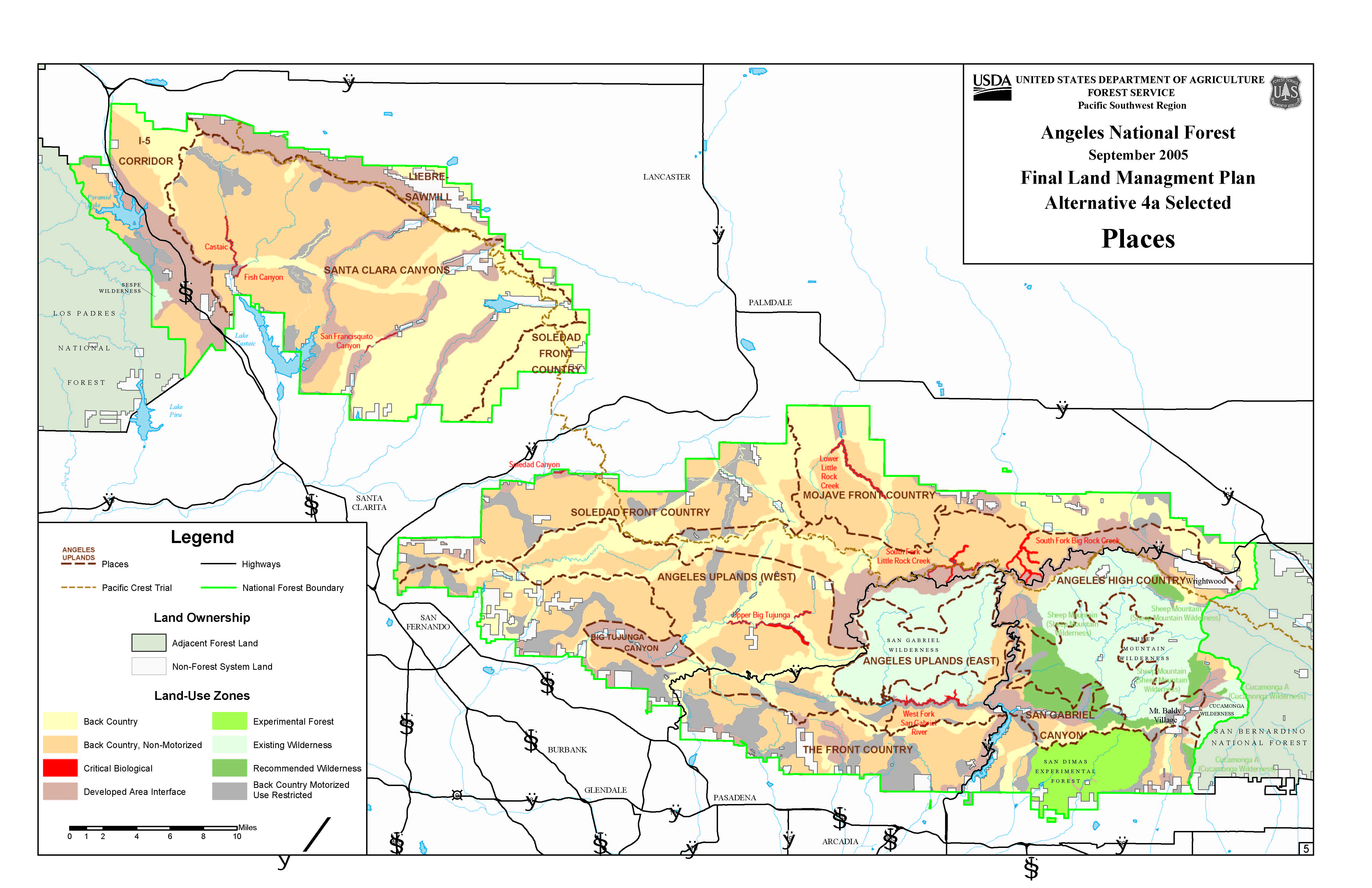 Angeles National Forest   Planning