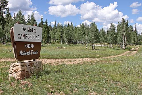 DeMotte Campground is located on the North Kaibab Ranger District of the Kaibab National Forest.