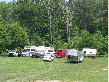 Camping at Blackwell Horse Camp