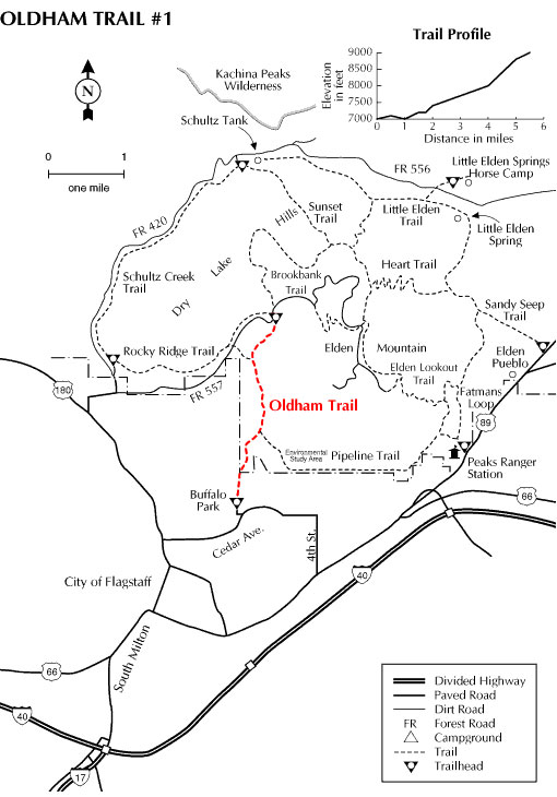 Oldham Trail Map