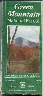 Green Mountain National Forest Visitor Map