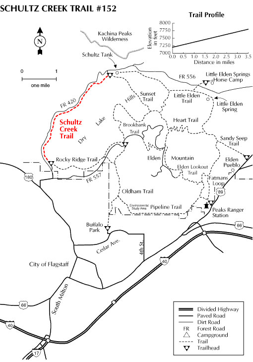 Schultz Creek Trail Map