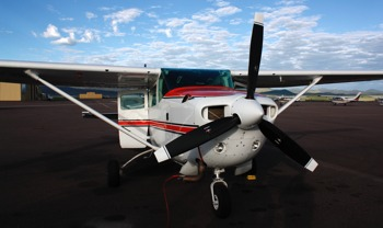 Cessna aircraft used for surveys