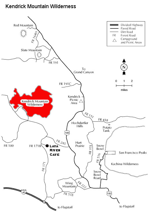Kendrick Mountain Wilderness Map
