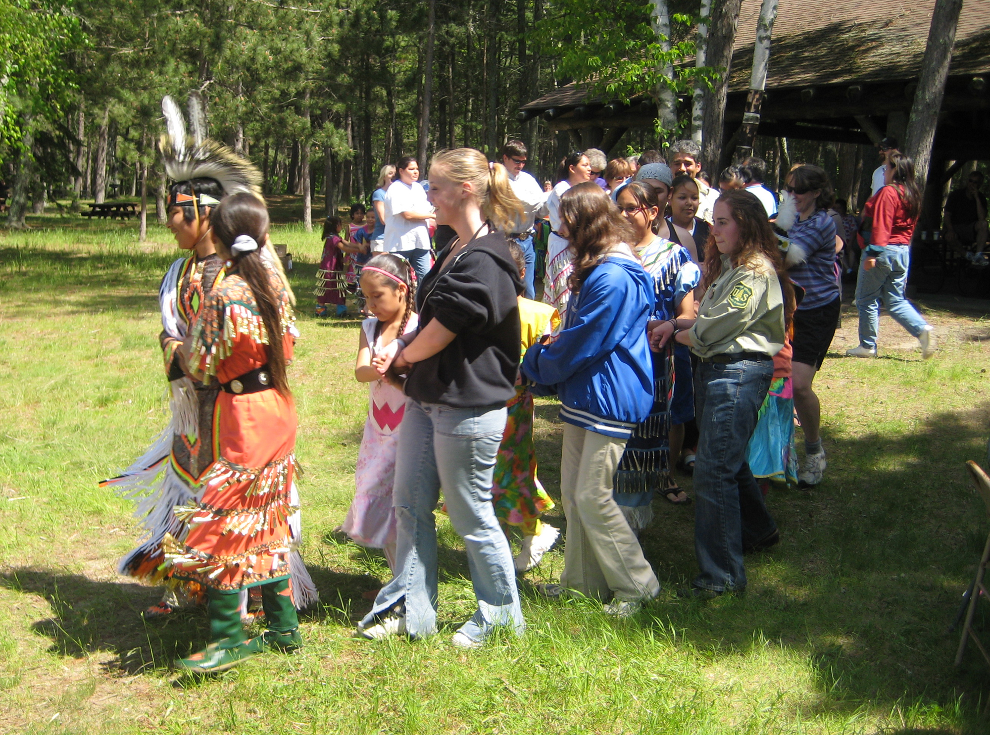 Chippewa National Forest employees and dancers together