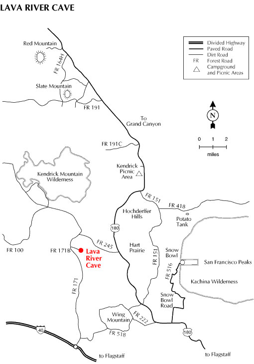 Lava River Cave Map