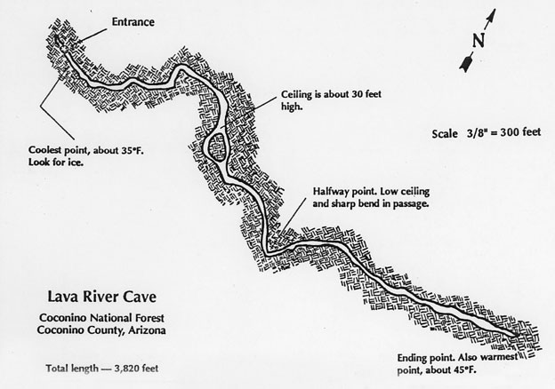 Map of Lava River Cave