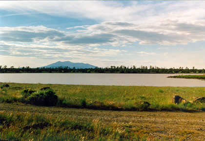 Ashurst Lake with the San Francisco Peaks in the background